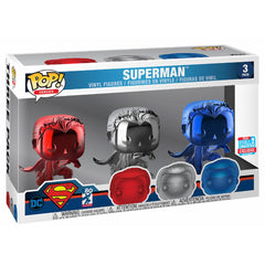 Funko - IN STOCK: Funko POP Movies: DC - Superman 3 Pack With PPJoe Pop Protector