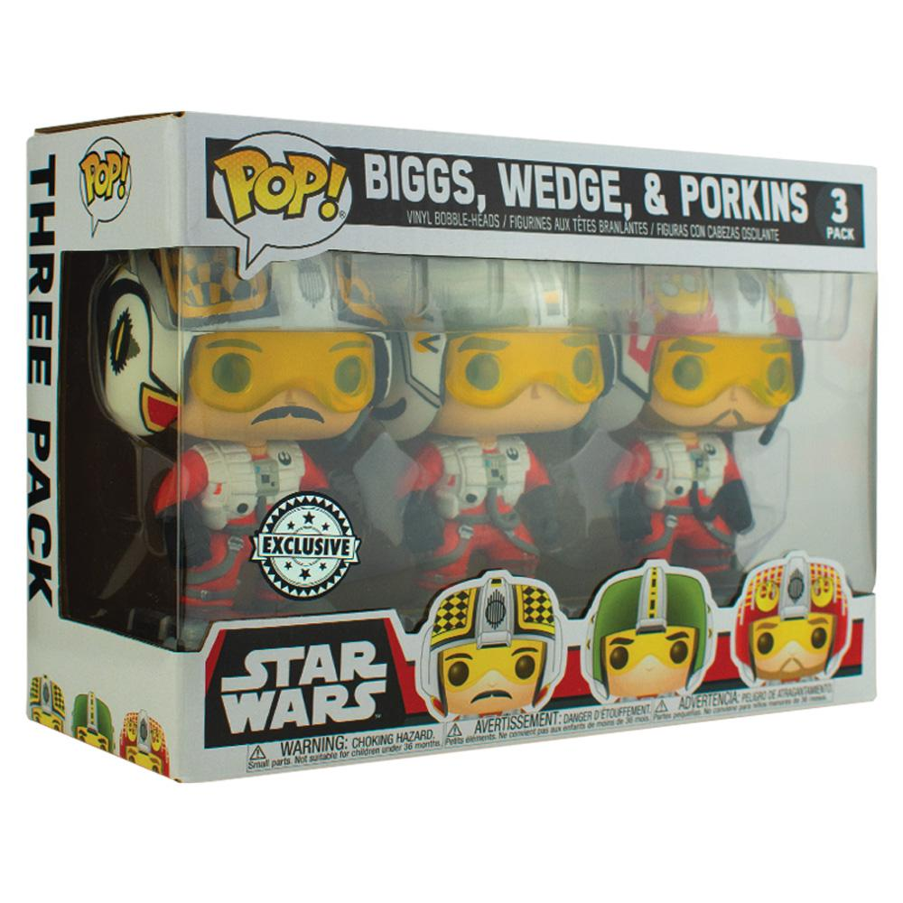 Funko - IN STOCK: Funko Pop! Star Wars 3 Pack Biggs, Wedge & Porkins With Protector
