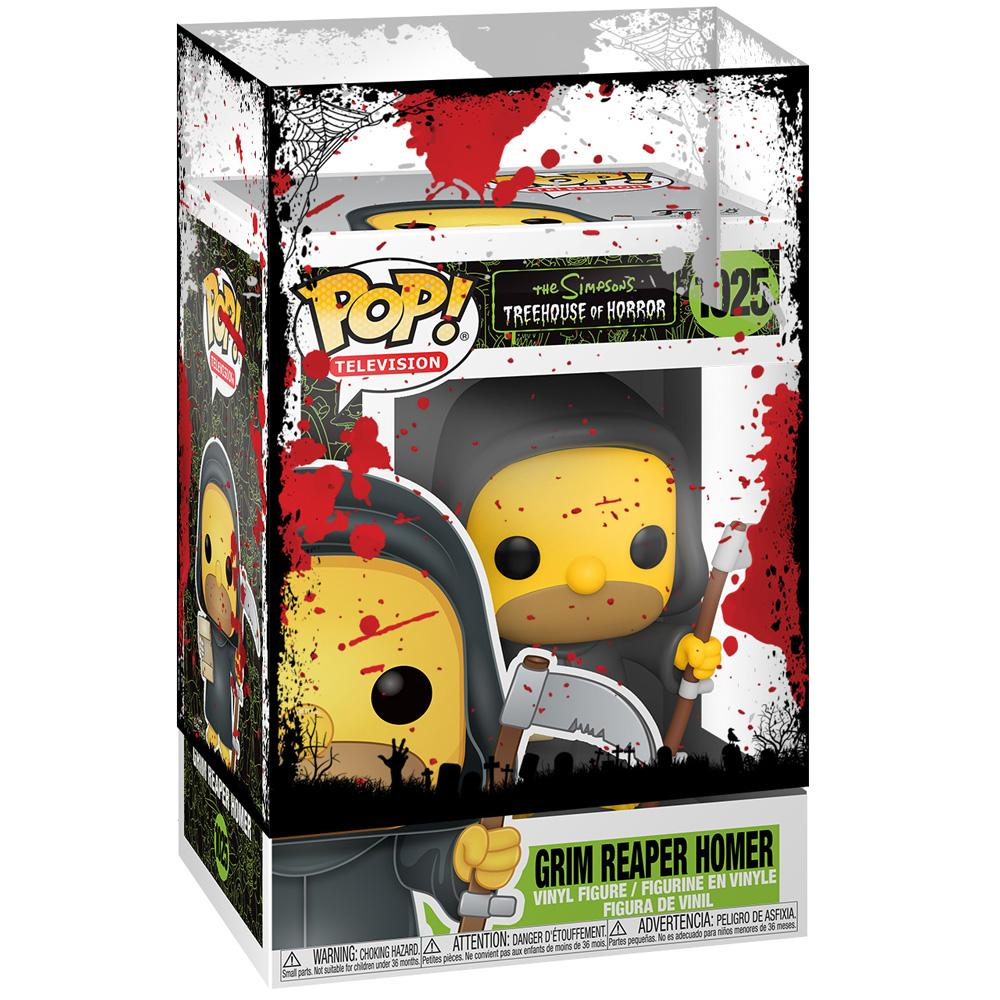 Funko - PRE-ORDER: Funko POP Animation: Simpsons Grim Reaper Homer With PPJoe Halloween Sleeve