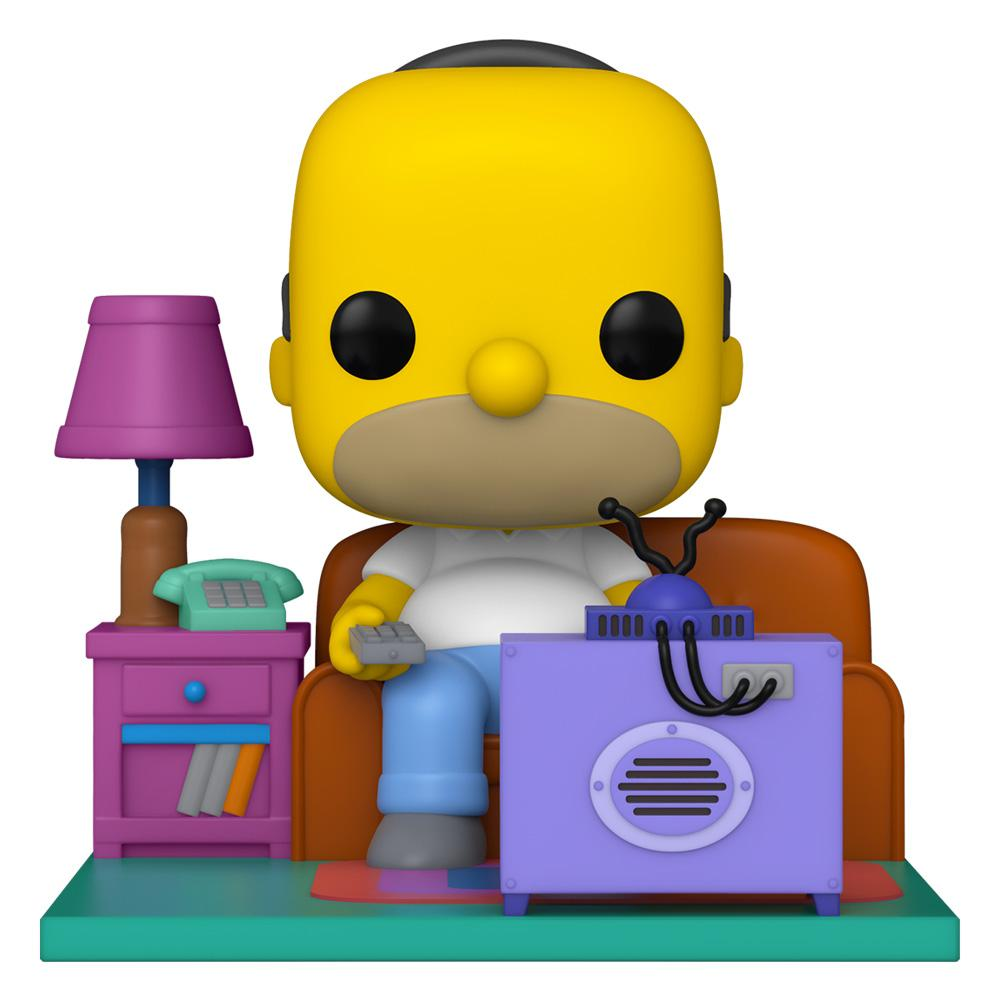 Funko - PRE-ORDER: Funko POP Deluxe: Simpsons- Homer Watching TV With PPJoe Protector