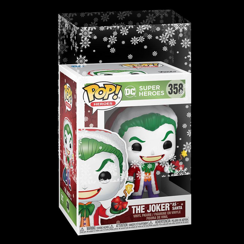 Funko - PRE-ORDER: Funko POP Heroes: DC Holiday- Santa Joker With PPJoe Snow Flake Sleeve