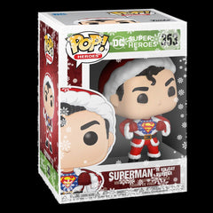 Funko - PRE-ORDER: Funko POP Heroes:DC Holiday-Superman W/Sweater With PPJoe Snow Flake Sleeve