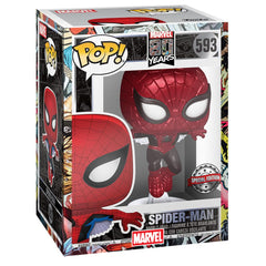Funko - PRE-ORDER: Funko POP Marvel: 80th - First Appearance Spider-Man (Metallic) With PPJoe Marvel Sleeve