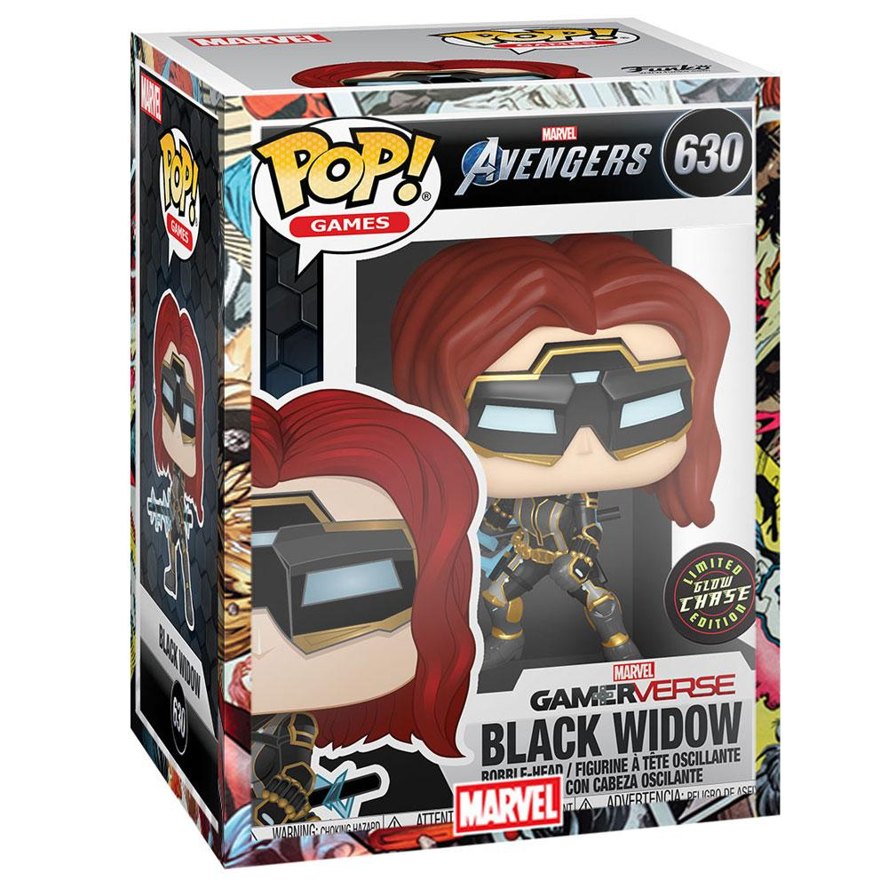 Funko - PRE-ORDER: Funko POP Marvel: Avengers Game -  Black Widow With Chance Of Glow Chase With PPJoe Marvel Sleeve