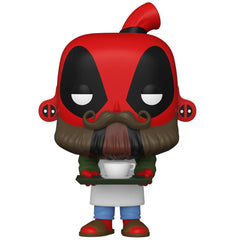 Funko - PRE-ORDER: Funko POP Marvel: Deadpool 30th - Coffee Barista With Marvel Sleeve