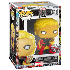 Funko - PRE-ORDER: Funko POP Marvel: Marvel 80th - Adam Warlock With PPJoe Marvel Sleeve