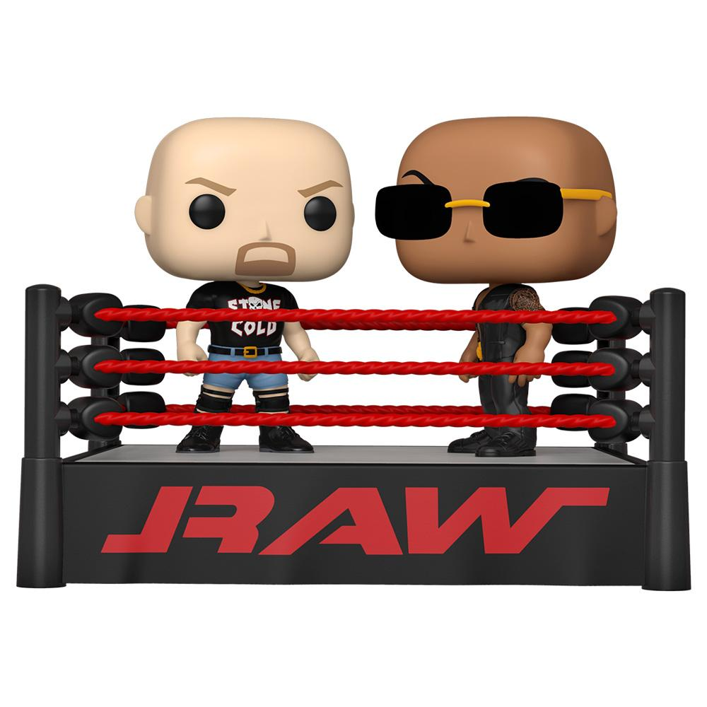 Funko - PRE-ORDER: Funko POP Moment: WWE - The Rock Vs Stone Cold In Wrestling Ring