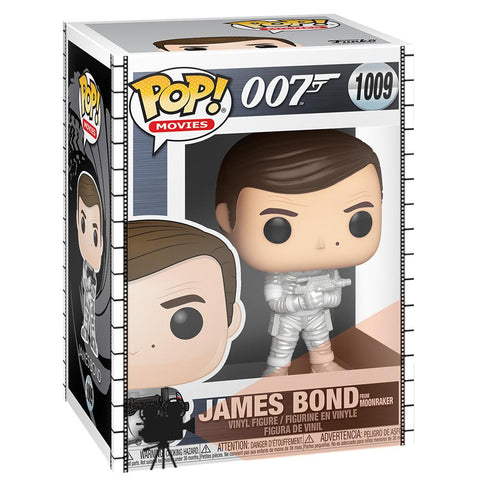 Funko - PRE-ORDER: Funko POP Movies: James Bond - Roger Moore (Moonraker) With PPJoe Movie Sleeve