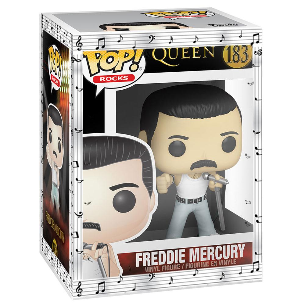 Funko - PRE-ORDER: Funko POP Rocks: Queen - Freddie Mercury Radio Gaga 1985 With Musical Sleeve