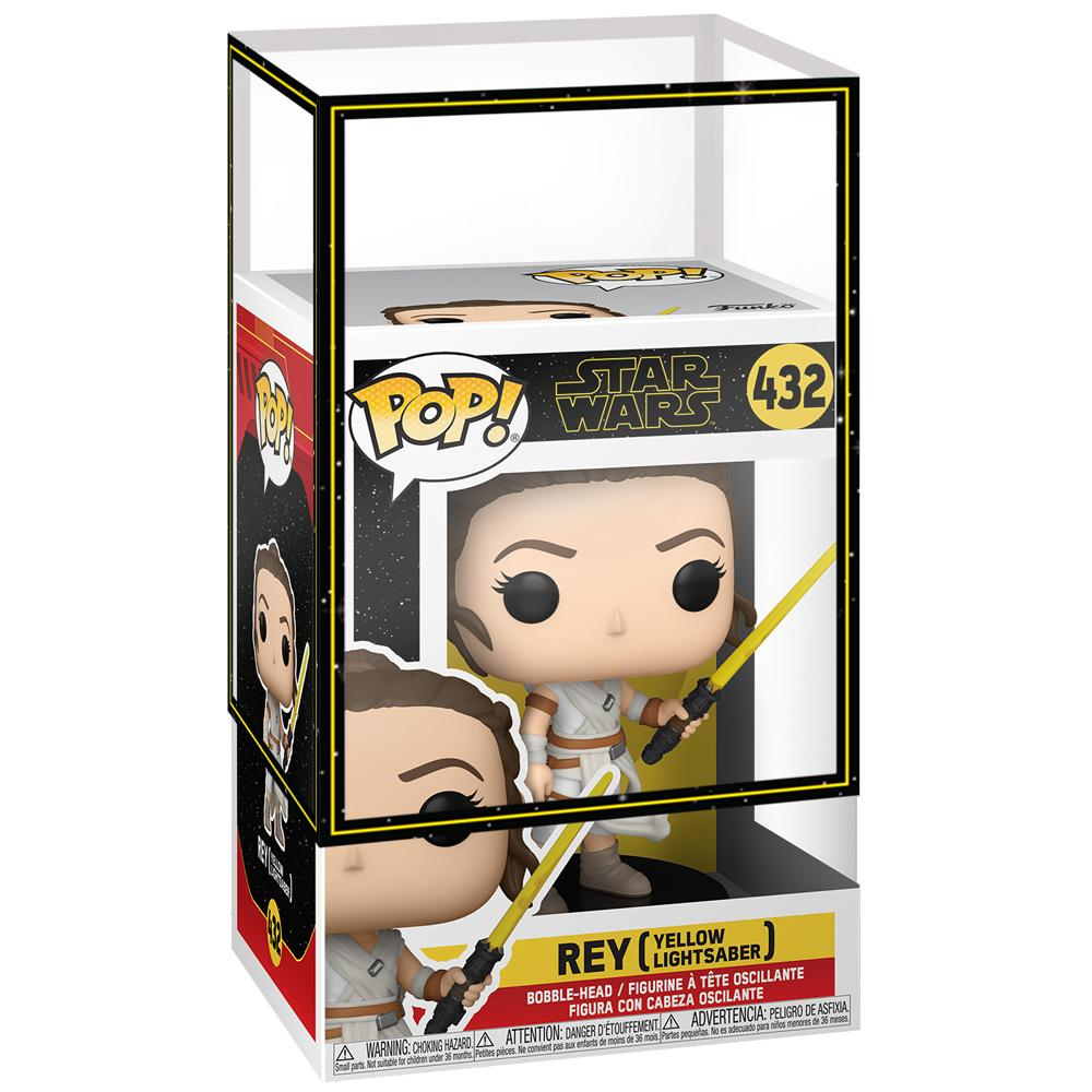 Funko - PRE-ORDER: Funko POP Star Wars: Rey With Yellow Saber With Star Wars Sleeve