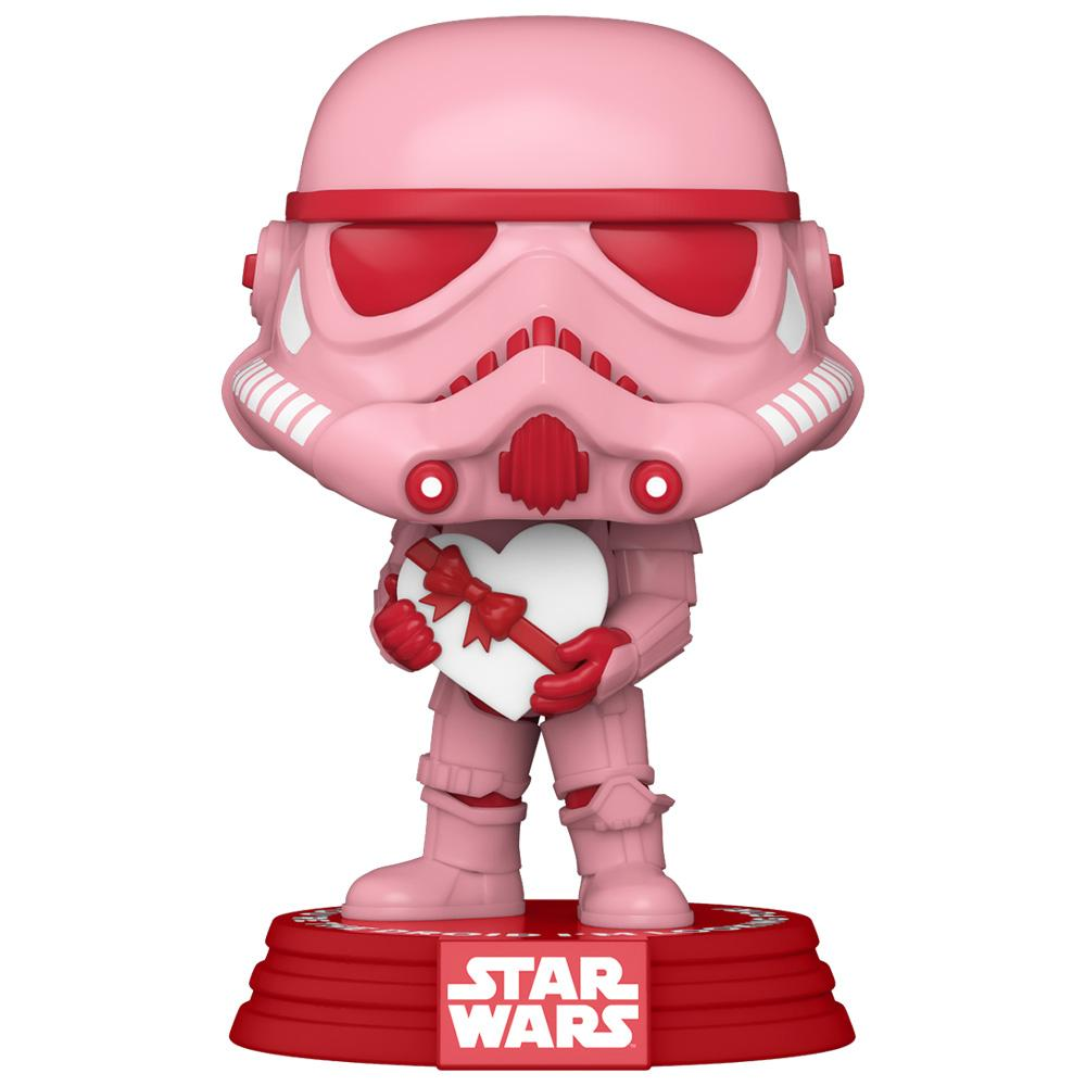 Funko - PRE-ORDER: Funko POP Star Wars: Valentines - Stormtrooper With Heart With PPJoe Sleeve And Protector