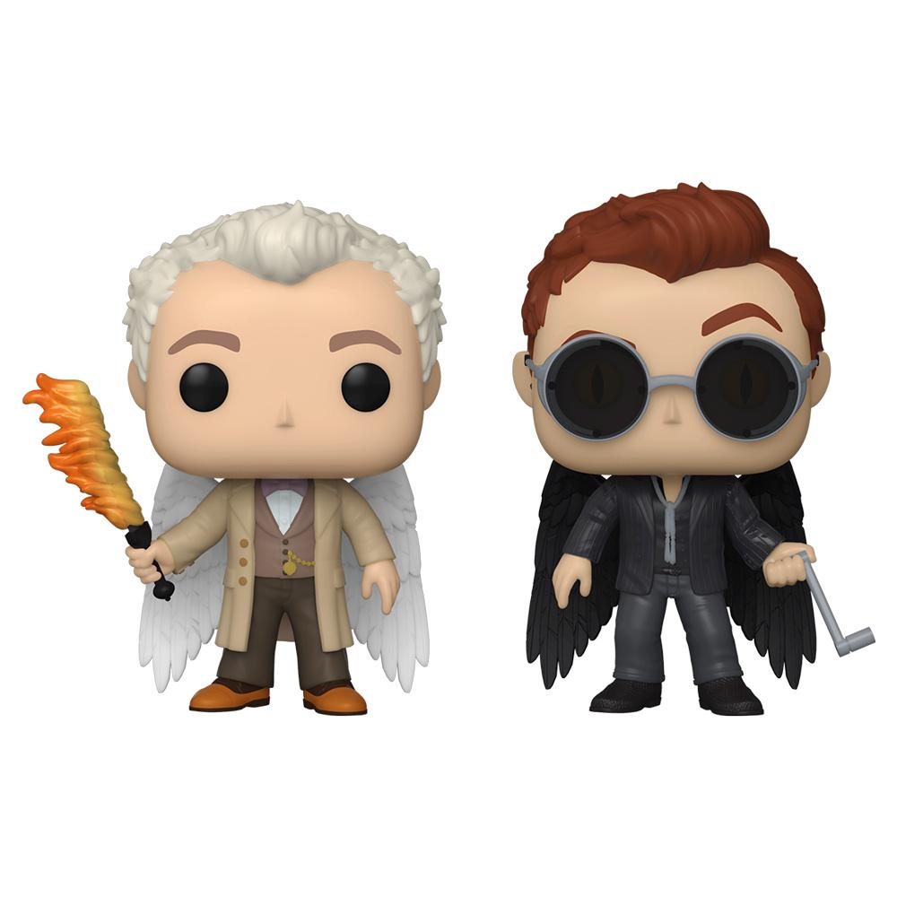 Funko - PRE-ORDER: Funko POP TV: Good Omens - 2 Pack Aziraphel & Crowley With Protector