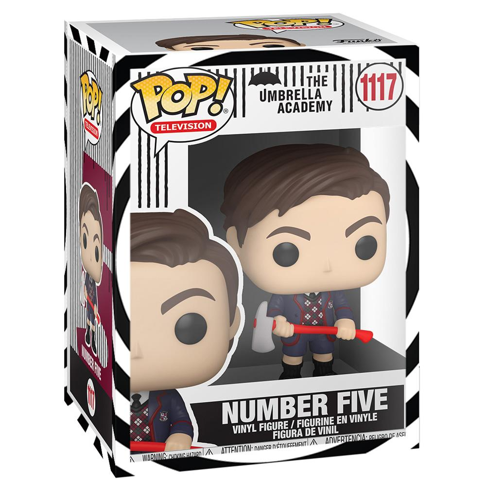 Funko - PRE-ORDER: Funko POP TV: Umbrella Academy - Number 5 With Themed Sleeve