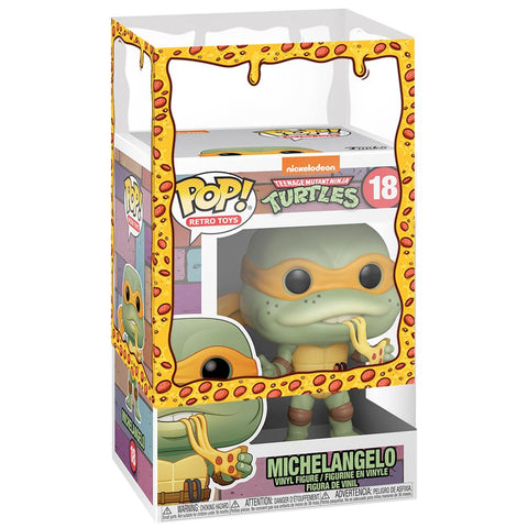 Funko - PRE-ORDER: Funko POP Vinyl: TMNT - Michelangelo With A PPJoe Pizza Sleeve