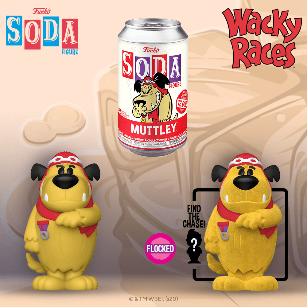 Funko - PRE-ORDER: Funko Vinyl SODA: Hanna Barbera - Muttley With Chance Of Flocked Chase