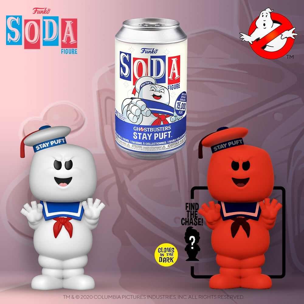 Funko - PRE-ORDER: Vinyl Soda: Ghostbusters - Stay Puft With Chance Of GITD Chase
