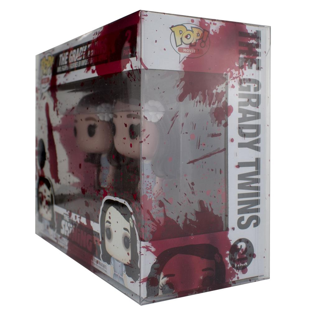 Pop Vinyl Protector - PPJoe 2 Pack (Double) Blood Splattered Pop Protector, Rock Solid Funko Vinyl Protection