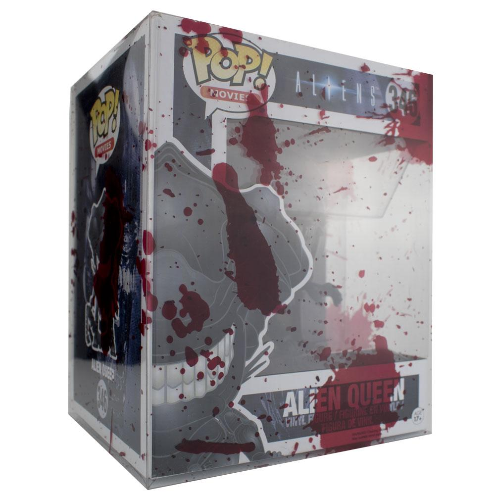 "Pop Vinyl Protector - PPJoe 6"" Oversized Blood Splattered Pop Protector, Rock Solid Funko Vinyl Protection"