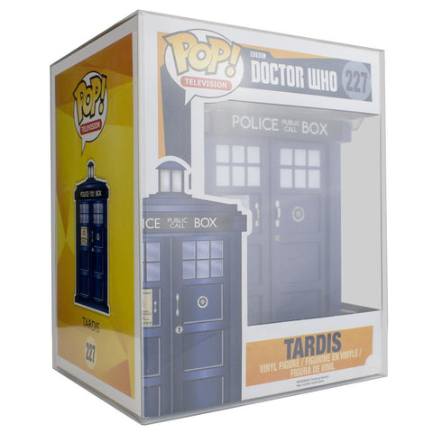 "Pop Vinyl Protector - PPJoe 6"" Tardis Pop Protector, New 0.40mm Thickness, Rock Solid Funko Vinyl Protection"