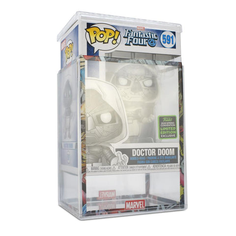Pop Vinyl Protector - PPJoe Clear 2mm Hard Stack With Marvel Sleeve