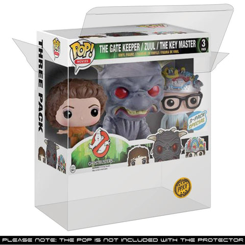 Pop Vinyl Protector - PPJoe Ghostbusters 3 Pack (Triple) Pop Protector, Rock Solid Funko Vinyl Protection