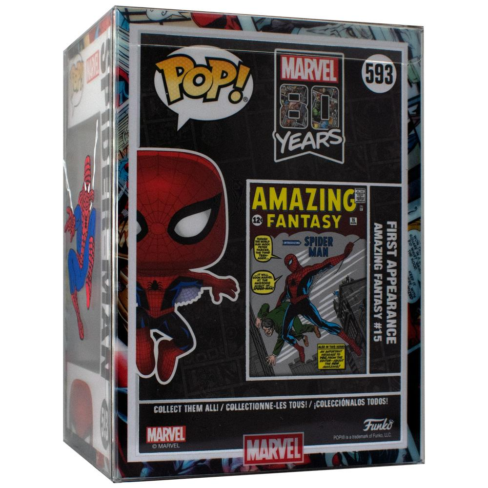 "Pop Vinyl Protector - PPJoe Hand Painted Spider-Man Pop Protector 4"" By KYC Customs [Single Protector]"
