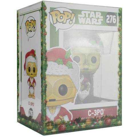 "Pop Vinyl Protector - PPJoe Pop Protectors 4"" Festive, 0.45mm Thickness, Funko Vinyl Protection [5 Pack]"