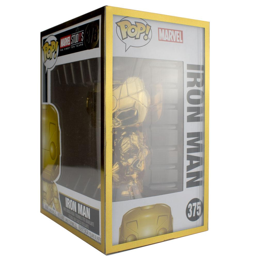 "Pop Vinyl Protector - PPJoe Pop Protectors 4"" Gold Edition, 0.50mm Thickness, Funko Vinyl Protection [10 Pack]"