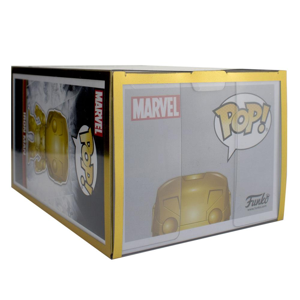 "Pop Vinyl Protector - PPJoe Pop Protectors 4"" Gold Edition, 0.50mm Thickness, Funko Vinyl Protection [5 Pack]"