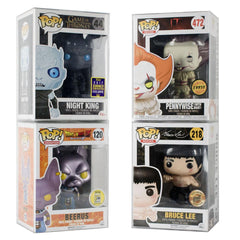 "Pop Vinyl Protector - PPJoe Pop Protectors 4"", New 0.45mm Thickness, Funko Vinyl Protection [5 Pack]"