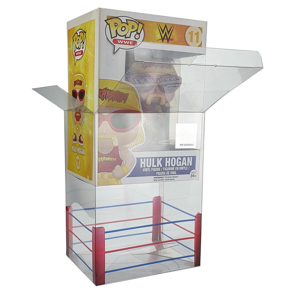 "Pop Vinyl Protector - PPJoe Pop Protectors 4"" WWE Edition, 0.45mm Thickness, Funko Vinyl Protection [10 Pack]"