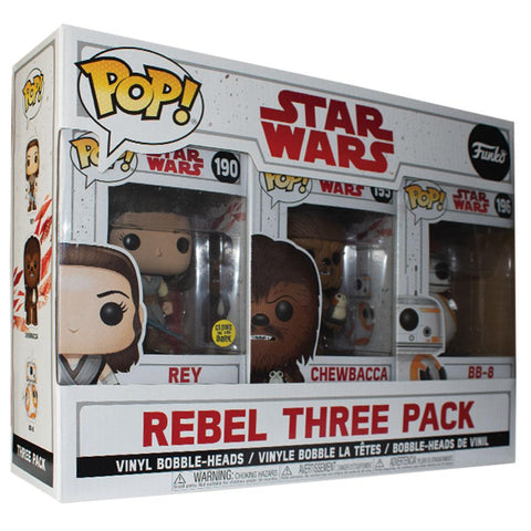 Pop Vinyl Protector - PPJoe Star Wars The Last Jedi Rebel Three Pack Pop Protector, Rock Solid Funko Vinyl Protection