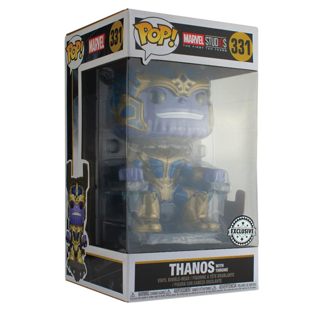 Pop Vinyl Protector - PPJoe Thanos With Throne Pop Protector, Rock Solid Funko Vinyl Protection