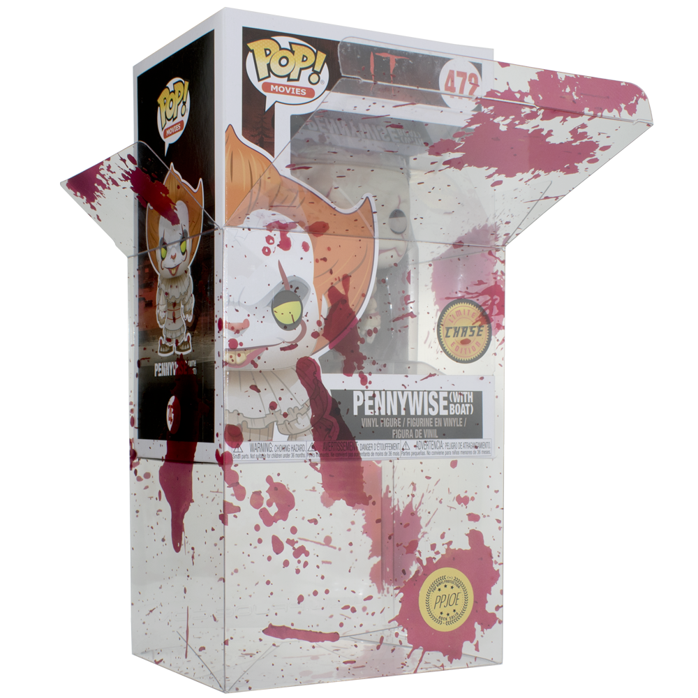 Funko Pop! IT Pennywise Chase with Blood Splattered Protector #472