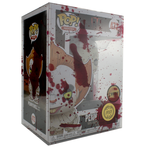 "PRE-ORDER: PPJoe Pop Protectors 4"" Blood Splattered, 0.45mm Thickness, Funko Vinyl Protection [10 Pack]"