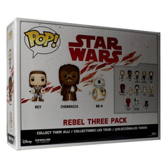 Star Wars The Last Jedi Rebel Three Pack with Pop Protector