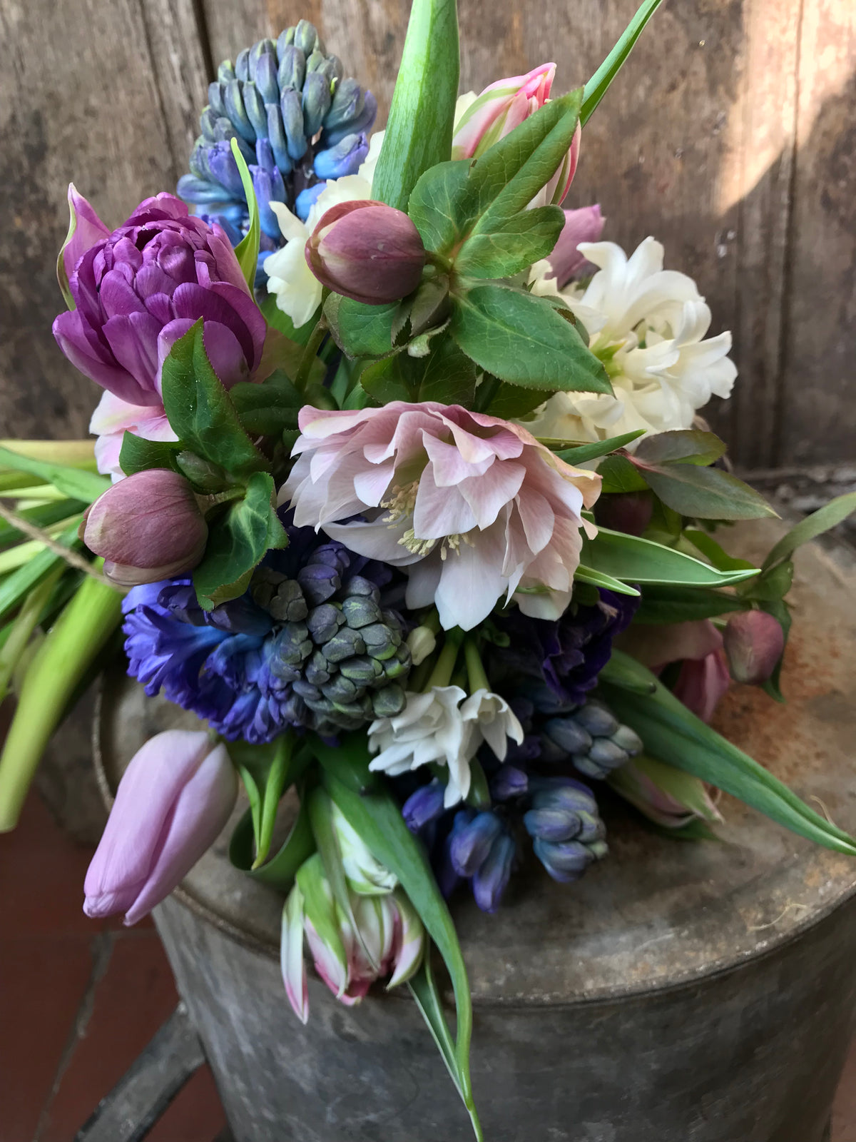 Scented spring flower posy for Mothers Day