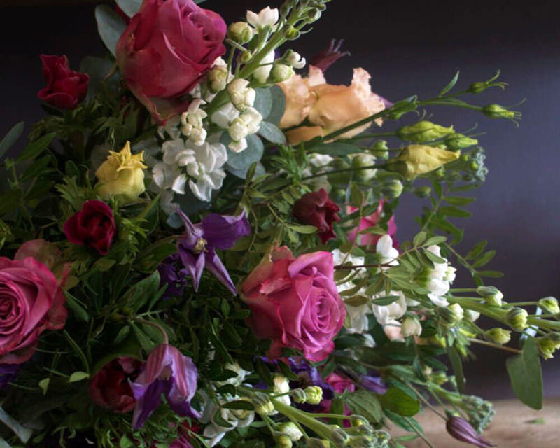 Seasonal handtied bouquet - let us choose for you!