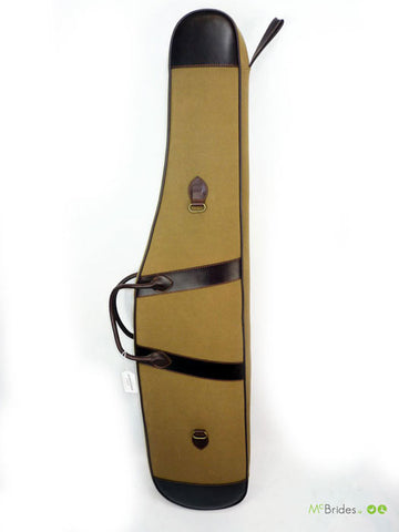 James Rambler Brown Leather Canvas Gun Bag