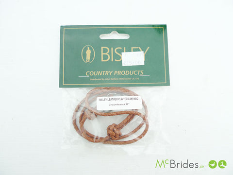 Bisley Leather Plaited Lanyard 32