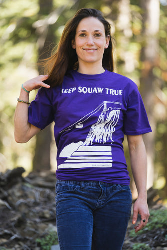 Keep Squaw True Tram Face T