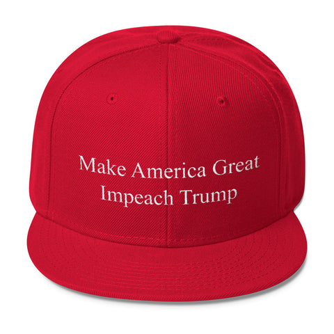 Impeach Trump Wool Blend Snapback Cap