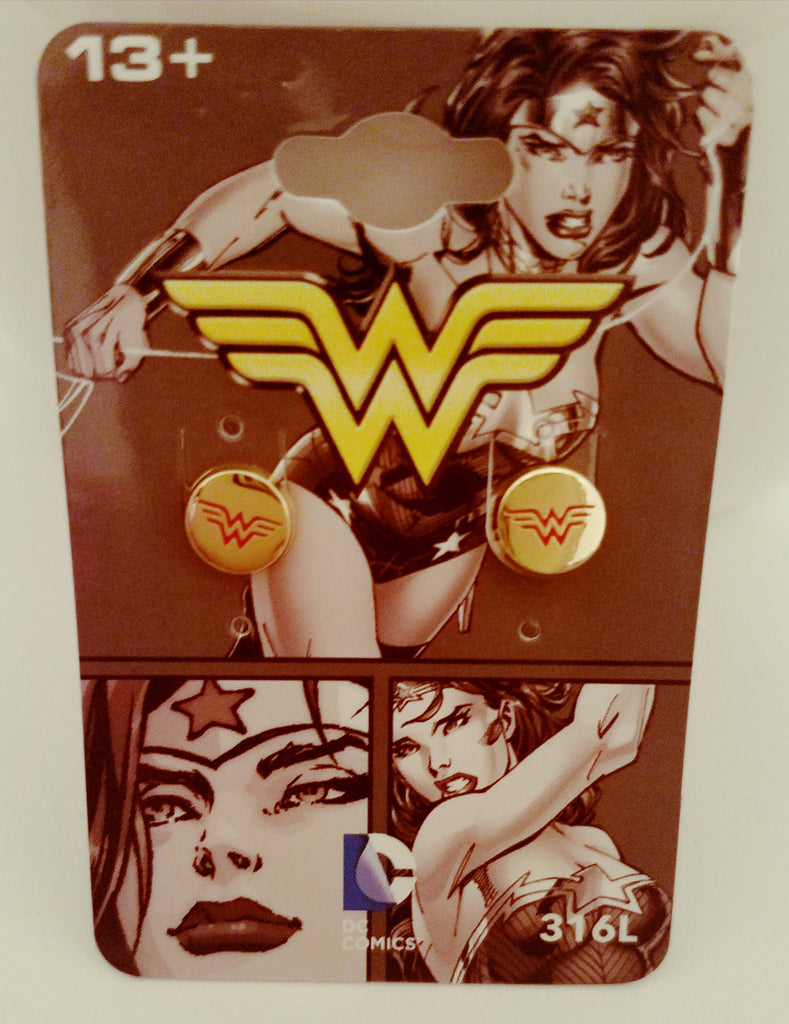 Wonder Woman Studs w/Red Logo