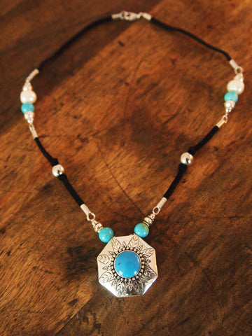 Boho Leather Necklace