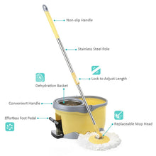 Rotating Spin Mop Bucket Set