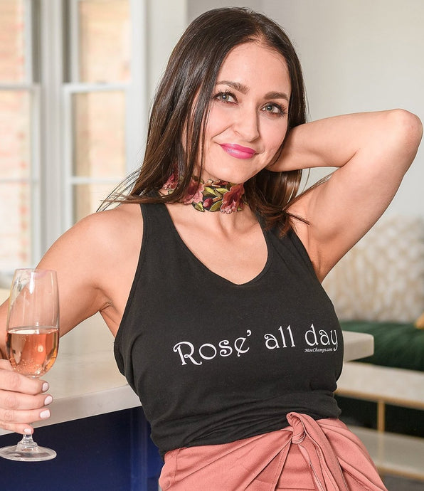 Rose' ALL Day, Ladies Shirttail Tank