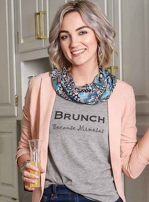 Brunch...Because Mimosas! Ladies' Cap Sleeve Tee