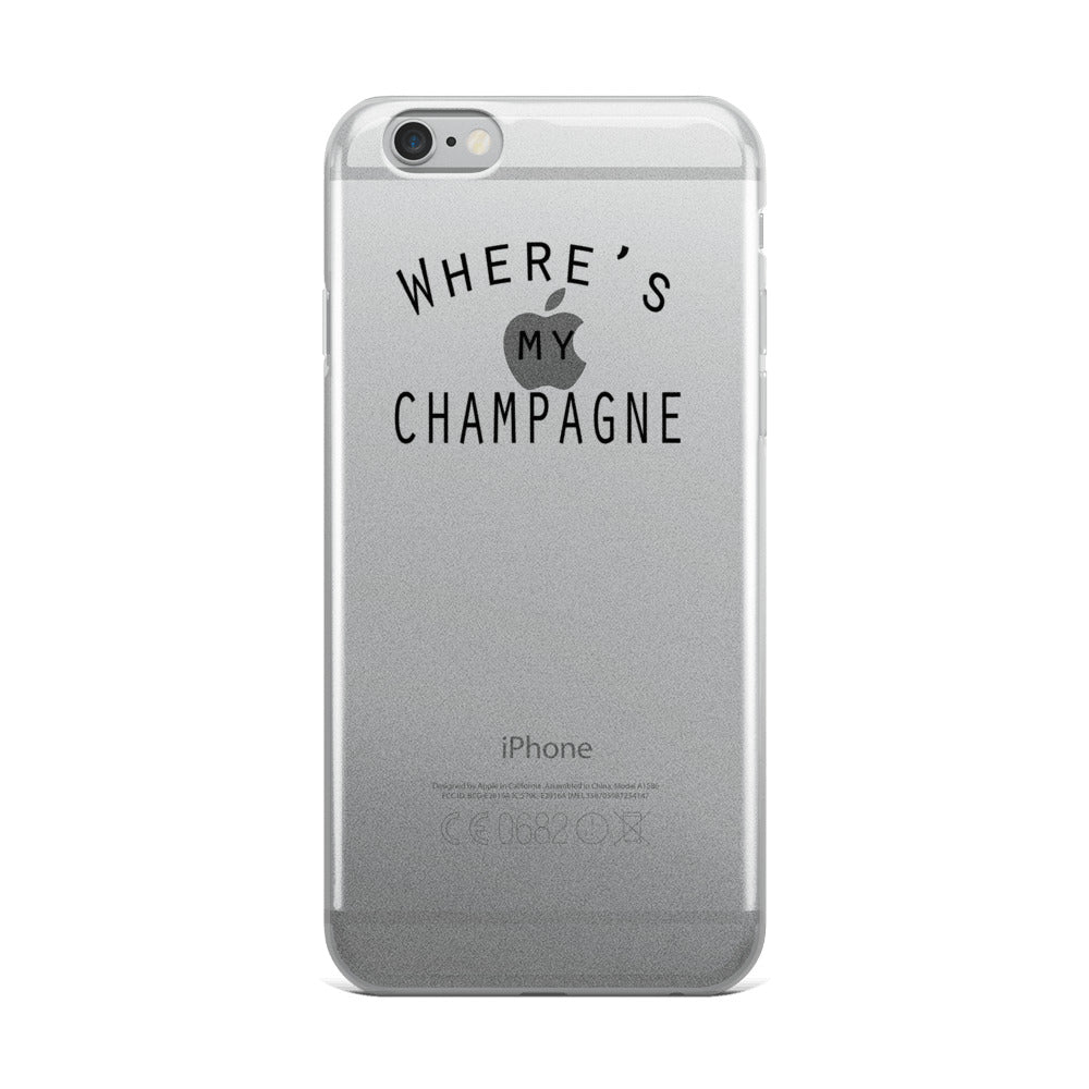 Where's My Champagne, iPhone Case (works with POPsocket) 6 thru X