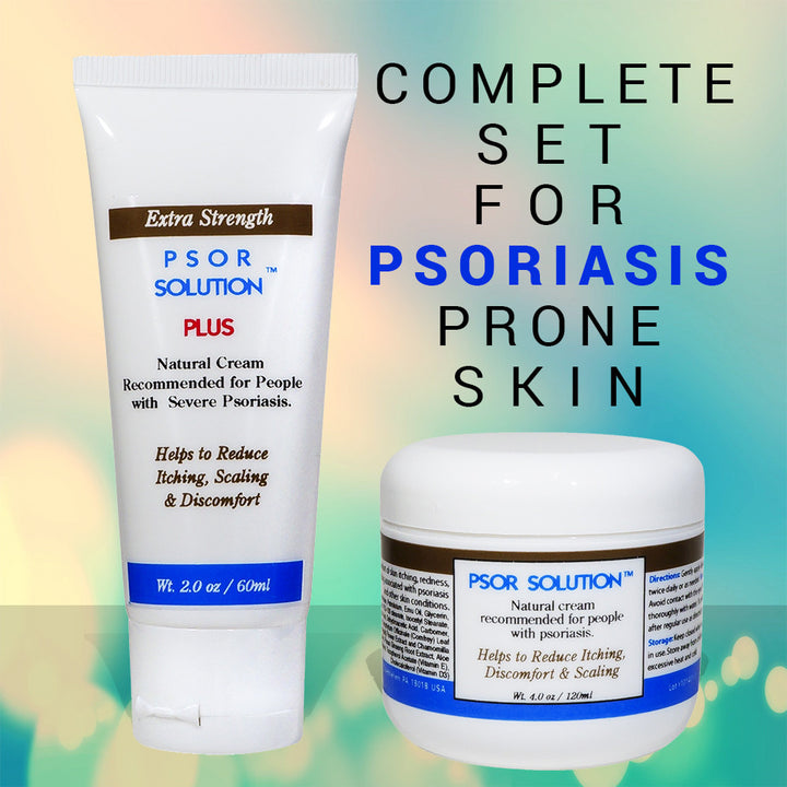 Psor Solution - Complete Kit for Care and Treatment of Psoriasis, Moisturizing Itch Relief Day Cream Plus Extra Strength Night Ointment to Soothe, Calm Itching Irritating Skin Associated With Outbreaks of Eczema and Psoriasis. - ovante