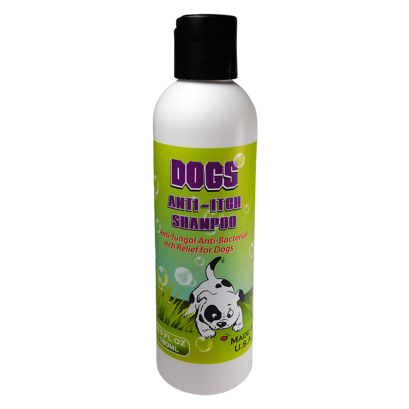 Dogs Itch Relief Shampoo Kills Fleas Scabies Mange Mites Skin Parasites and Insects That Causes Skin Itching Irritation and Hair Loss. Cooling Soothing Itch Relief for Dogs Puppies 6.0 oz <s class='dogs'></s> - ovante